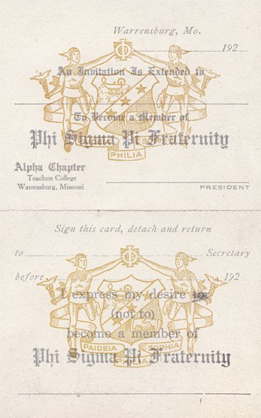 Alpha Chapter's Invitation to Prospective Members