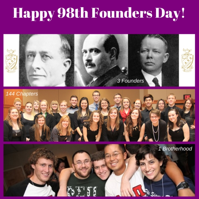Happy Founders Day, Phi Sigma Pi!