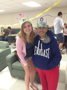 Gamma Epsilon Brother, Meghan Bradley, spends time with her buddy.