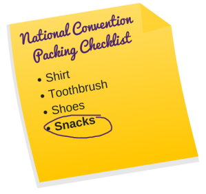 National Convention Packing Checklist