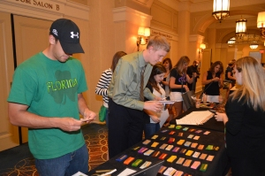 Brothers picking out their ribbons at last year's National Convention in Philly