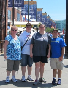 Kori's mom, Beth, sister, Kristin, Steve, and Kori in Chicago (2012).