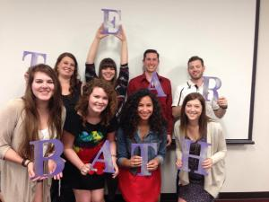 Delta Phi Chapter Seniors show off their superlatives.