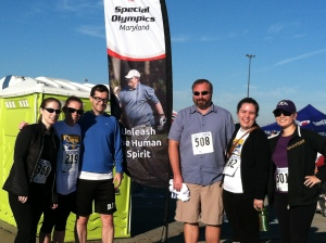 Capital Brothers after a 5K Run/Walk for Maryland Special Olympics