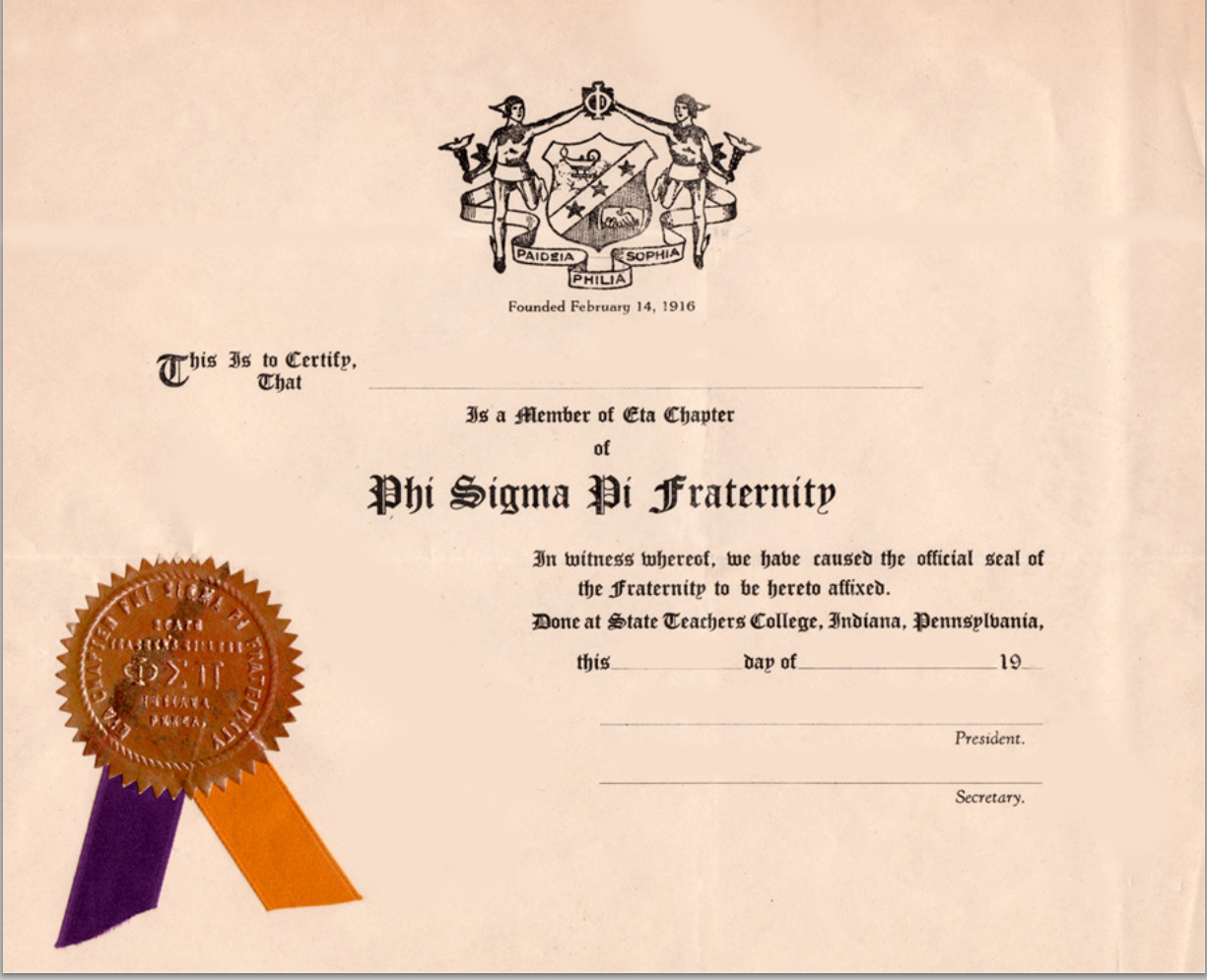 Psptbt The Shingle Phi Sigma Pi National Honor Fraternity