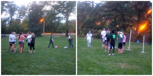 The Beta Sigma Chapter got the MSU Quidditch Team to teach the participants how to play.