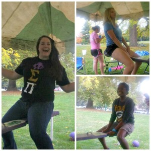 The Beta Sigma Chapter held a Teeter-Totter-A-Thon for 24 hours.