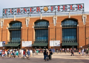 """The """"Home of the Braves."""" Turner Field opened in 1997."""