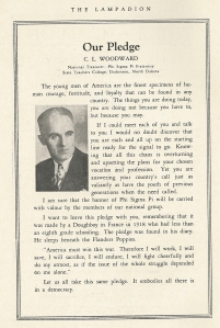 The April 1942 Lampadion. National Treasurer C.L. Woodward speaks about the Brothers who were fighting in WWII.