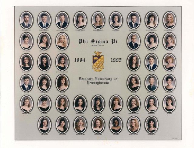 The 1994-1995 Upsilon Chapter at Edinboro University of Pennsylvania in Edinboro, PA