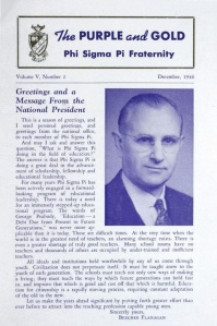 December 1946 edition of The Purple & Gold