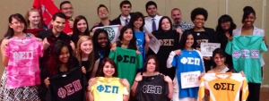 The Epsilon Mu Chapter celebrates the Induction of their new Members.
