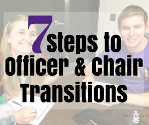 7 Steps to Officer and Chair Transitions