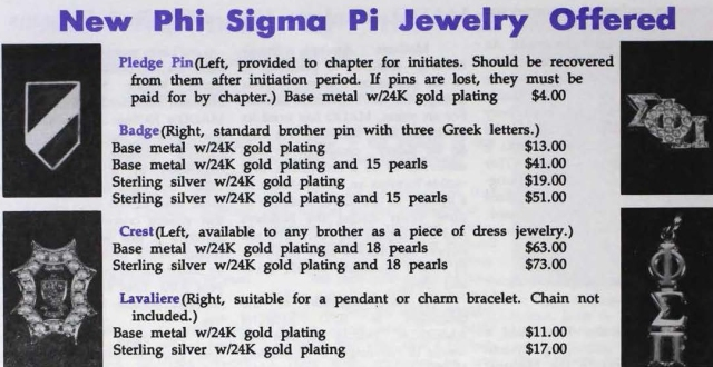 New jewelry announcement from the September 1991 Purple & Gold