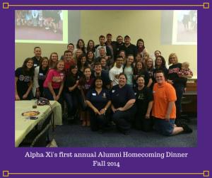 Alpha Xi's first annual Alumni