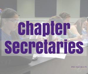 Chapter Secretaries