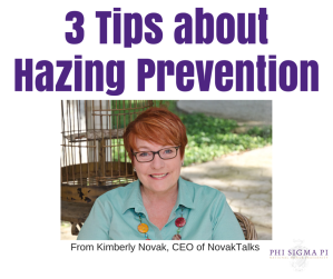 3 Tips Kimberly Novak has for YOU about hazing prevention