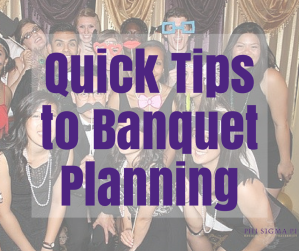 Quick Tips to Banquet Planning