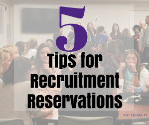 5 Tips for Recruitment Reservations