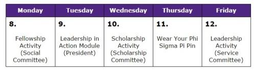 Phi Sigma Pi Spirit Week