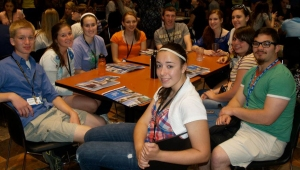 Taylor Ray and her group (1P) at the 2012 Central PA HOBY Seminar