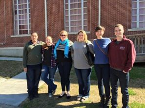 Brothers of the Delta Tau Chapter at Mississippi State University volunteered with Stewpot Community Services.