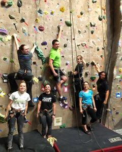 Epsilon Psi rock climbing